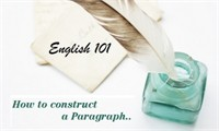 English 101: How to Construct a Paragraph
