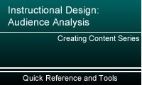 Instructional Design:  Audience Analysis