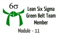 Lean Six Sigma Green Belt Team Member Module - 11 Control Phase Part-2