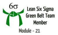 Lean Six Sigma Green Belt Team Member Module - 21 Statistical Concepts