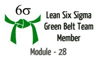 Lean Six Sigma Green Belt Team Member Module -28 Cycle Time Reductions