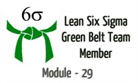 Lean Six Sigma Green Belt Team Member Module 29 DMAIC Execution Steps