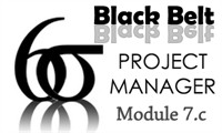 Six Sigma Black Belt Project Manager Certification Module 7.c