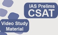 IAS Prelims CSAT Video Study Material Course