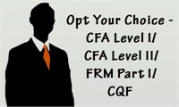 Opt Your Choice - CFA Level I/CFA Level II/FRM Part I/CQF
