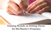Training Module on Writing Thesis for MS/Master's Programs