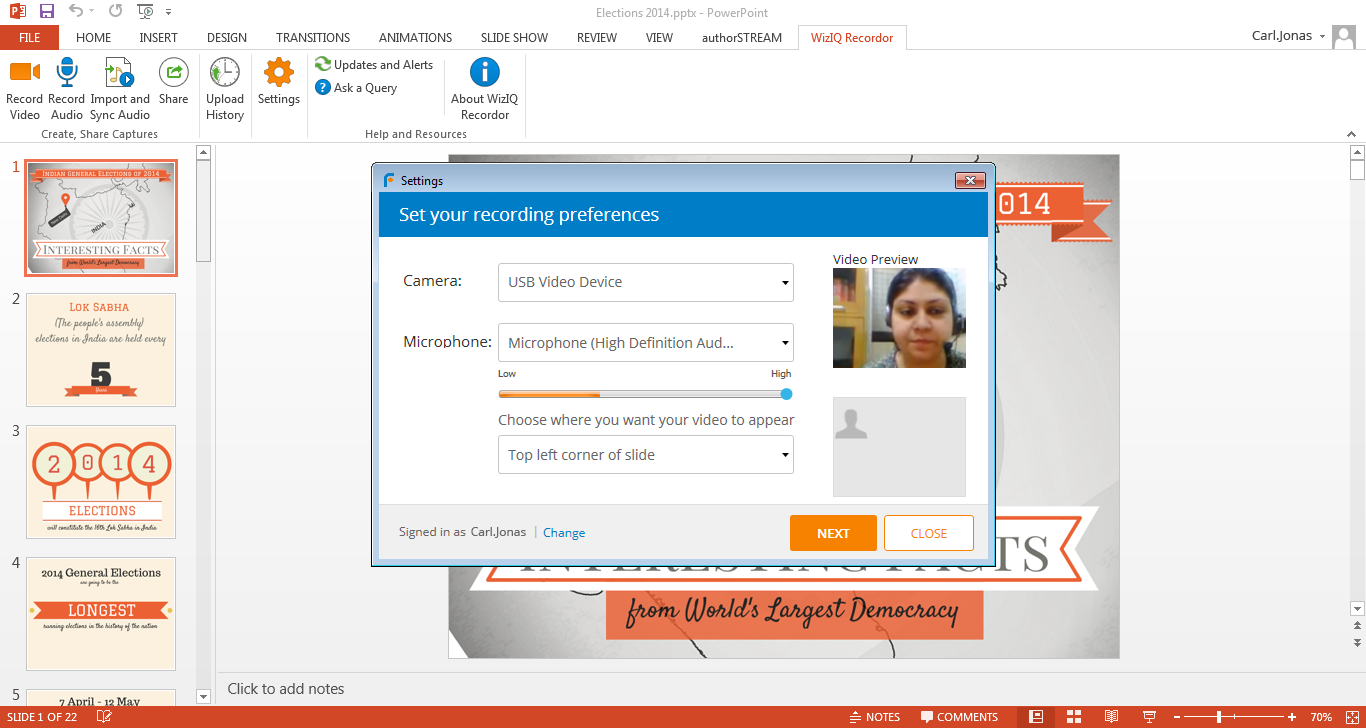 WizIQ Recordor Screen shot